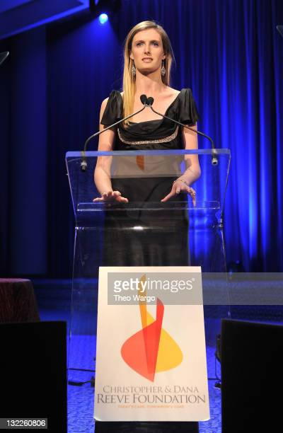 Alexandra Reeve Givens speaks onstage the Christopher Dana Reeve Foundation's A Magical Evening 20th Anniversary Gala at The New York Marriott...