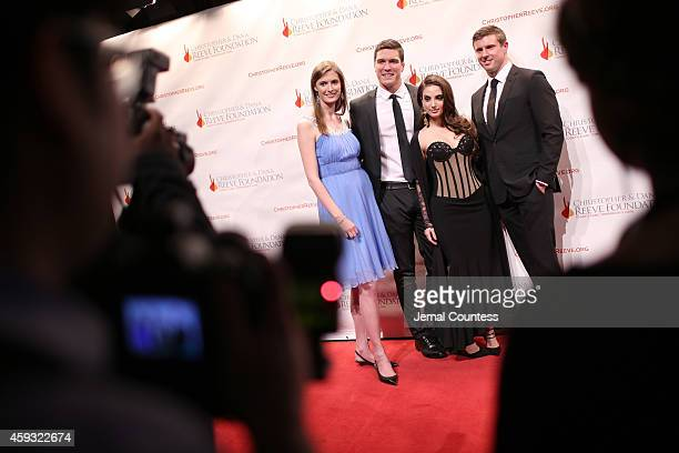 Alexandra Reeve Givens William Reeve Alexa Ray Joel and Matthew Reeve attend The Christopher Dana Reeve Foundation A Magical Evening on November 20...