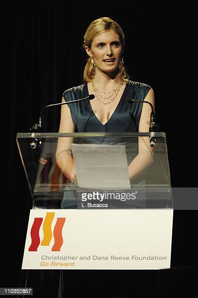 Alexandra Reeve speaks at 'A Magical Evening' hosted by The Christopher and Dana Reeve Foundation at The Marriott Marquis on November 12 2007 in New...
