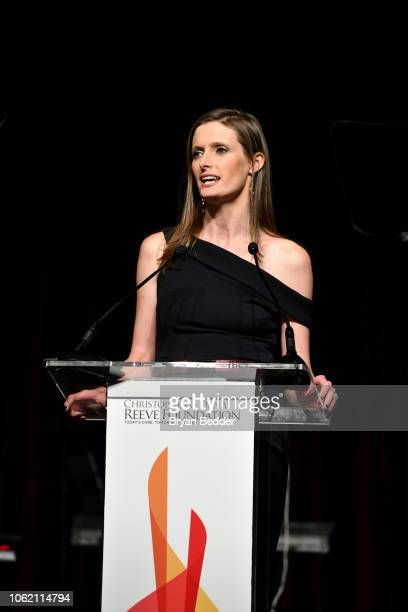 Alexandra Reeve speaks at The Christopher Dana Reeve Foundation Magical Evening Gala on November 15 2018 in New York City