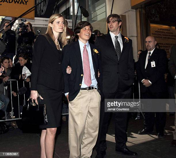 Alexandra Reeve, Will Reeve and Matthew Reeve at the Memorial for their mother Dana Reeve, who passed away on March 6, 2006 at the age of 44 of lung...