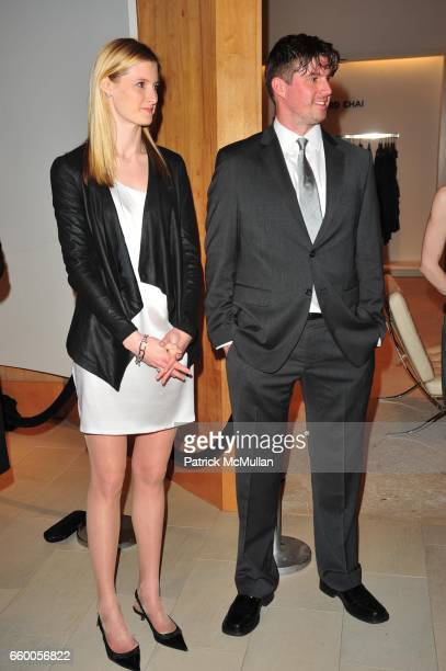 Alexandra ReeveGivens and Matthew Reeve attend SAKS FIFTH AVENUE THE FASHION GROUP INTERNATIONAL celebrate the launch of CLARK'S BOTANICALS CELLULAR...