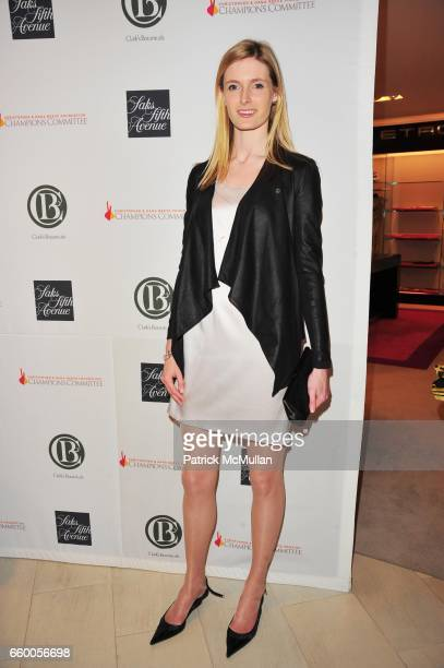 Alexandra ReeveGivens attends SAKS FIFTH AVENUE THE FASHION GROUP INTERNATIONAL celebrate the launch of CLARK'S BOTANICALS CELLULAR LIFTING SERUM at...