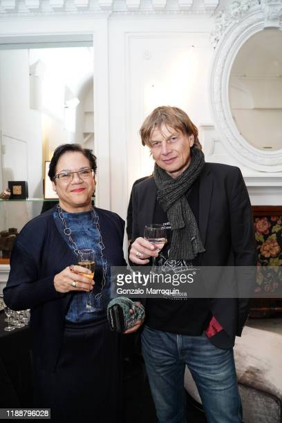 Alexandra Reiher and Bodo Korsig during the Celebration Of Achille Salvagni at Maison Gerard at the Elizabeth Collective on November 19 2019 in New...