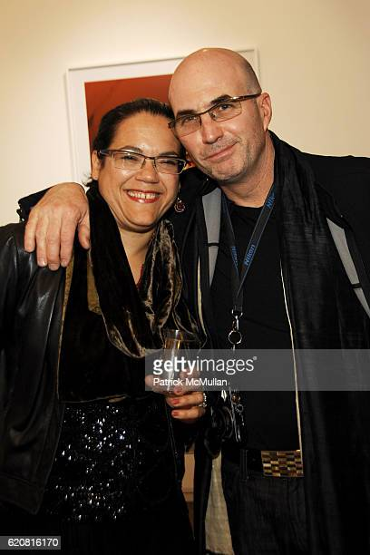 Alexandra Reiher and David Glackin attend Private Viewing of Merce My Way By Mikhail Baryshnikov at 401 Projects on March 15 2008 in New York City