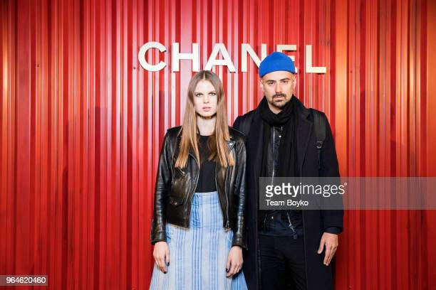 Alexandra Revenko and Anton Sevidov attend the Chanel Replica Show In Moscow 'Metiers D'Art Paris Hamburg 201718' on May 31 2018 in Moscow Russia