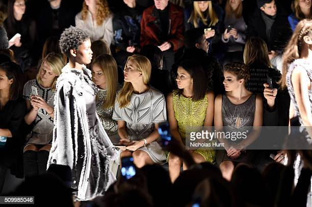 Alexandra Richards Abbie Cornish Petra Nemcova Annet Mahendru and Sami Gayle attend the Herve Leger By Max Azria Fall 2016 fashion show during New...