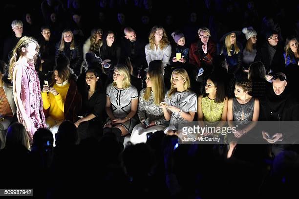 Alexandra Richards Abbie Cornish Petra Nemvoca Annet Mahendru Sami Gayle and Robert Verdi attend the Herve Leger By Max Azria Fall 2016 New York...