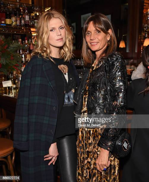 Alexandra Richards and Countess Debonnaire von Bismarck attend the Polo Bear Holiday Dinner hosted by Polo Ralph Lauren and Alexandra Richards at...
