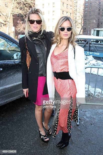 Alexandra Richards and Georgia May Jagger are seen during MercedesBenz Fashion Week Fall 2014 at Lincoln Center for the Performing Arts on February...