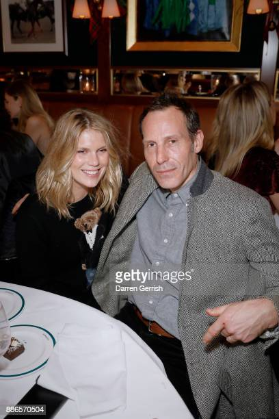 Alexandra Richards and Marlon Richards attend the Polo Bear Holiday Dinner hosted by Polo Ralph Lauren and Alexandra Richards at RalphÕs Coffee Bar...