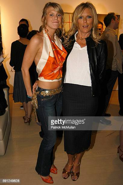 Alexandra Richards and Patti Hansen attend Massimo Ferragamo Patti Hansen Theodora and Alexandra Richards Host the Exhibition ORIGIN MOTHER CHILD at...