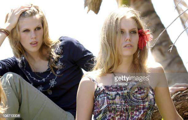 Alexandra Richards and Theodora Richards during Tommy Jeans Photo Shoot in Mustique in Mustique Bahamas
