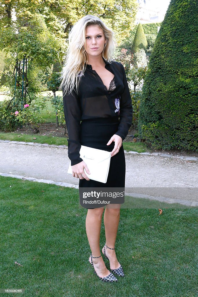 Alexandra Richards arriving at the Christian Dior show as part of the Paris Fashion Week Womenswear Spring/Summer 2014, held at Musee Rodin on September 27, 2013 in Paris, France.