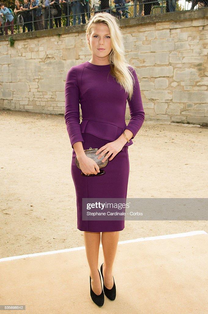 Alexandra Richards attends Elie Saab show, as part of the Paris Fashion Week Womenswear Spring/Summer 2014, in Paris.