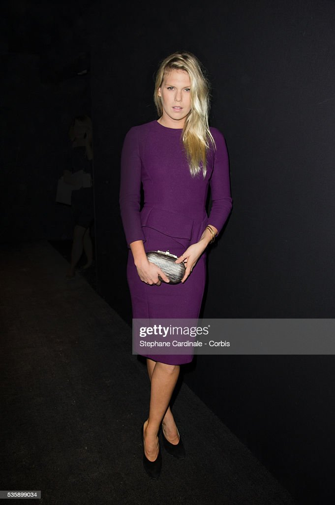 Alexandra Richards attends Elie Saab show, as part of the Paris Fashion Week Womenswear Spring/Summer 2014, in Paris.