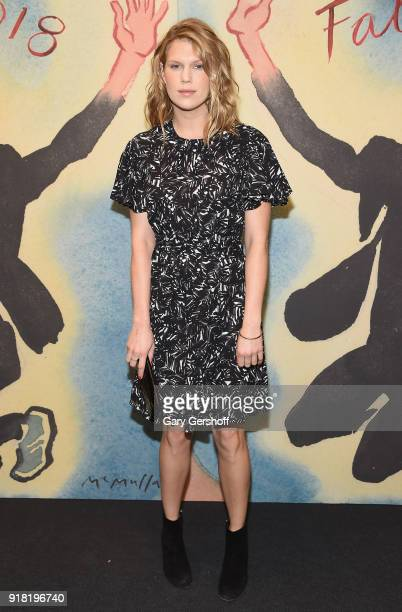 Alexandra Richards attends the Michael Kors fashion show during New York Fashion Week at Vivian Beaumont Theatre on February 14 2018 in New York City