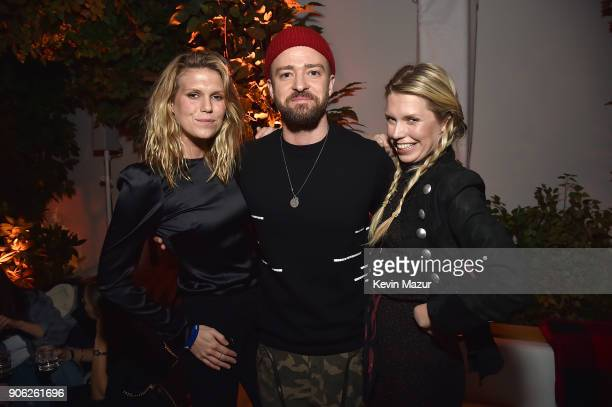 Alexandra Richards Justin Timberlake and Theodora Richards attend American Express x Justin Timberlake 'Man Of The Woods' listening session at...