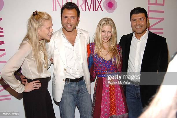 Alexandra Richards, Khajak Keledjian, Theodora Richards and Haro Keledjian attend INTERMIX New York Flagship Store Opening at Intermix on September...