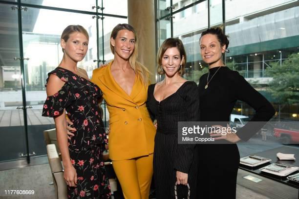 "Alexandra Richards, Lilly Hartley, Jill Bikoff, and Julia Jansch attend the 57th New York Film Festival - ""The Irishman"" pre-reception Lincoln..."