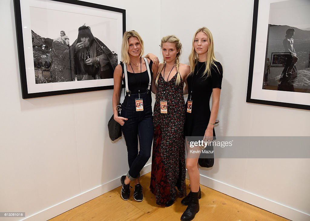 Alexandra Richards, Theodora Richards and Ella Rose Richards attend Desert Trip at The Empire Polo Club on October 7, 2016 in Indio, California.