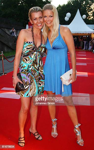 Alexandra Rietz and Tina Kaiser attend the 'Movie Meets Media' party at discoteque P1 on June 23 2008 in Munich Germany