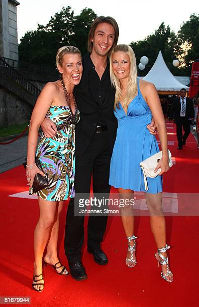 Alexandra Rietz Max Wiedemann and Tina Kaiser attend the 'Movie Meets Media' party at discoteque P1 on June 23 2008 in Munich Germany