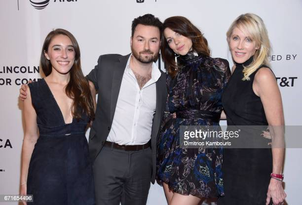 Alexandra Rizk Keane Ross Kohn Courtney Henggeler and Linda Rizk attend the Literally Right Before Aaron Premiere during 2017 Tribeca Film Festival...