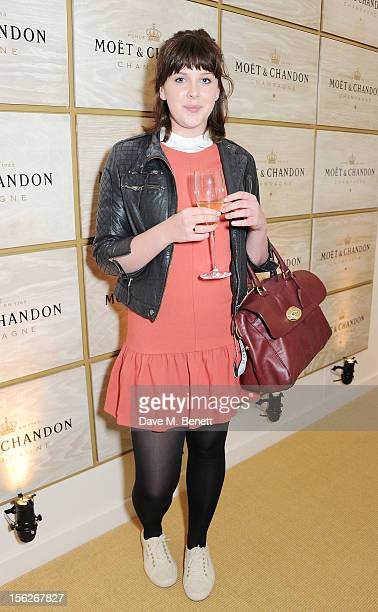 Alexandra Roach attends the Moet Chandon VIP Suite during day eight of the ATP World Finals at the O2 Arena on November 12 2012 in London England