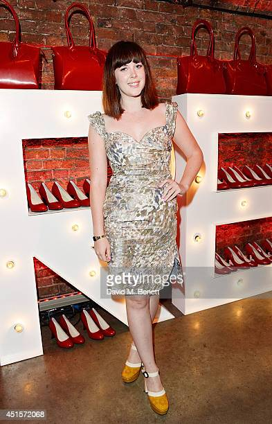 Alexandra Roach wearing Vivienne Westwood attends the launch party to celebrate Virgin Atlantic's new Vivienne Westwood uniform collection at Village...