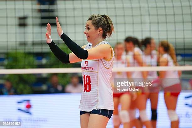 Alexandra Rochelle of France during the CEV European League match at Salle Colette Besson on June 11 2016 in Rennes France