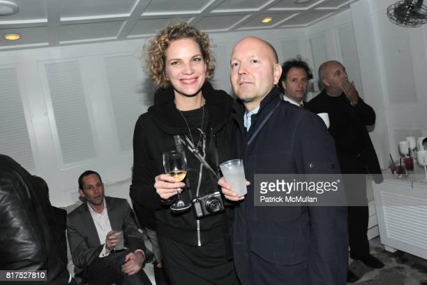 Alexandra Rohleder and Thomas Vasold attend INTERVIEW LVMH FENDI Art Basel Dinner at Delano on December 2 2010 in Miami Florida