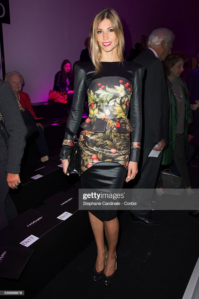 Alexandra Rosenfeld attends Leonard show, as part of the Paris Fashion Week Womenswear Spring/Summer 2014, in Paris.