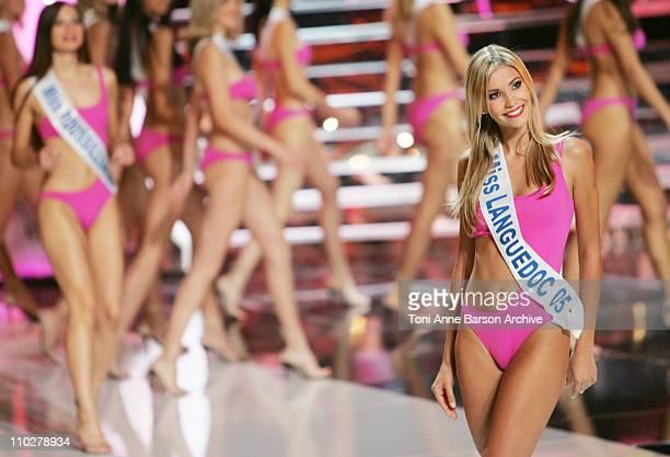 Alexandra Rosenfeld Miss France 2006 during Miss France 2006 Pageant at Palais des Festivals in Cannes France