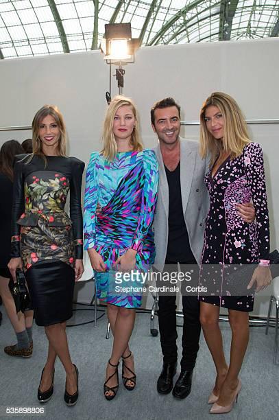 Alexandra Rosenfeld Mona Walravens the stylist Raffaele Borriello and Isabelle Funaro attends Leonard show as part of the Paris Fashion Week...