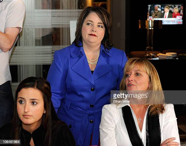 Alexandra Russo Tea Party Express Chairwoman Amy Kremer and President of America's Mighty Warriors Debbie Lee watch Kentucky Republican Senate...