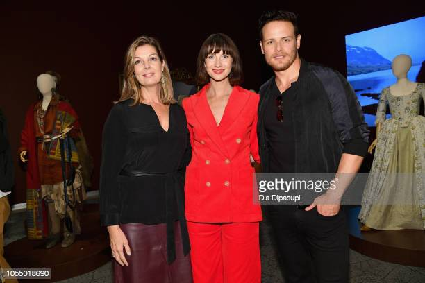 Alexandra Sachs Caitriona Balfe and Sam Heughan attend the 21st SCAD Savannah Film Festival premiere screening and costume exhibition for 'Outlander'...