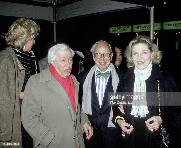 Alexandra Schlesinger Adolph Green Arthur M Schlesinger Jr and Lauren Bacall