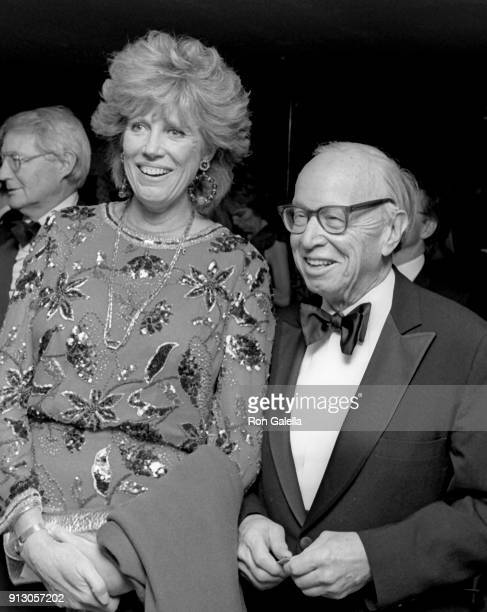 Alexandra Schlesinger and Arthur Schlesinger attend Fourth Annual PEN Montblanc Literary Benefit Gala on April 4 1990 at Roseland in New York City