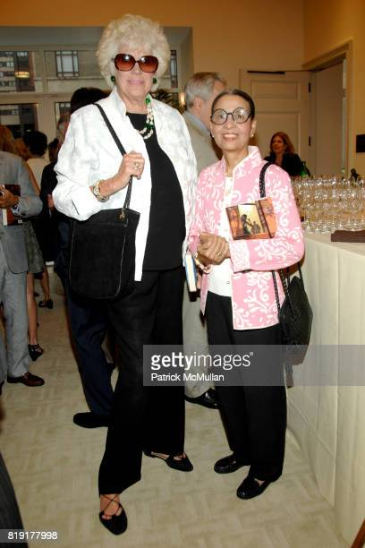Alexandra Schlesinger and Gail Buckley attend Susan FalesHill's ONE FLIGHT UP Book Launch Party at 15 Central Park West on July 21st 2010 in New York...