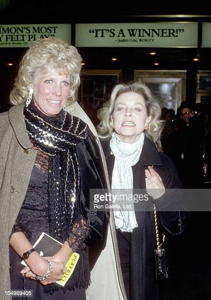 Alexandra Schlesinger and Lauren Bacall during Preview Performance of 'Phantom of the Opera' at The Majestic Theater in New York City New York United...