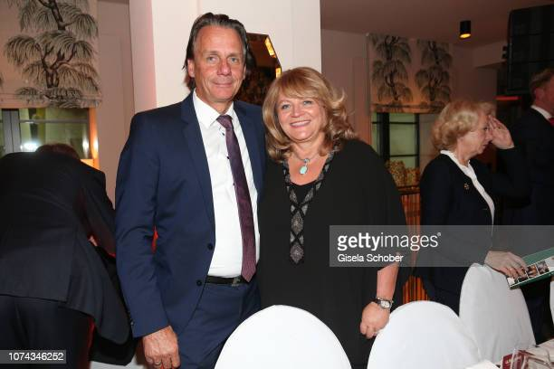 Alexandra Schoerghuber and her husband Bernd Werndl during the annual christmas roast kid dinner on December 17 2018 in Munich Germany