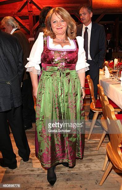 Alexandra Schoerghuber during the 75th birthday party of Werner Brombach on December 29 2014 in Erding Germany
