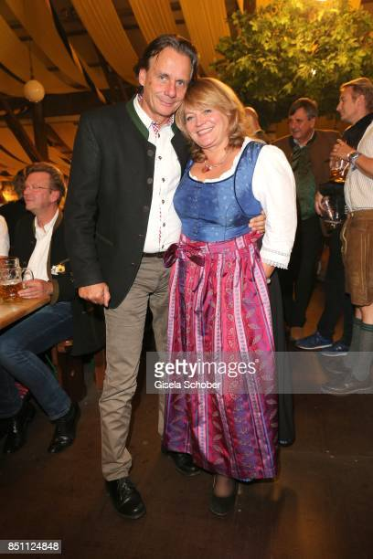 Alexandra Schoerghuber Paulaner and her husband Bernd Werndl during the Oktoberfest at Winzerer Faehndl tent at Theresienwiese on September 21 2017...