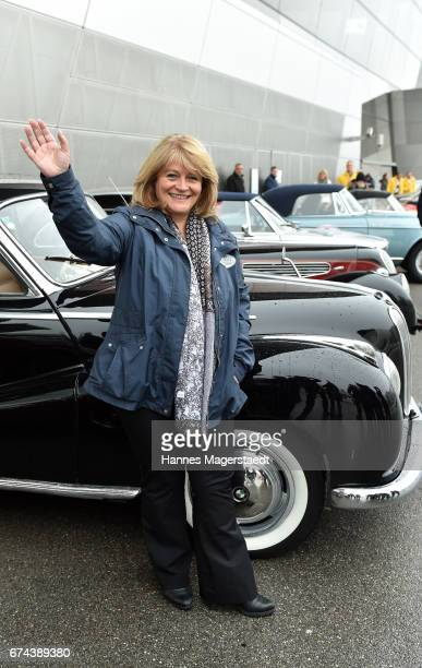 Alexandra Schoerghuber Paulaner before the ArabellaClassics Route 2017 starts at BMW World on April 28 2017 in Munich Germany