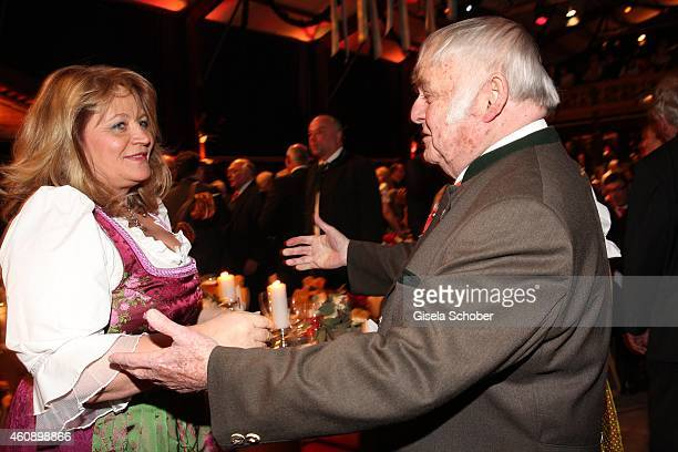Alexandra Schoerghuber Richard Suessmeier during the 75th birthday party of Werner Brombach on December 29 2014 in Erding Germany