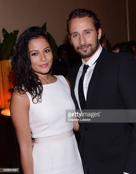 Alexandra Schouteden and actor Matthias Schoenaerts attend the after party for a screening of 'Rust And Bone' hosted by The Cinema Society With Dior...
