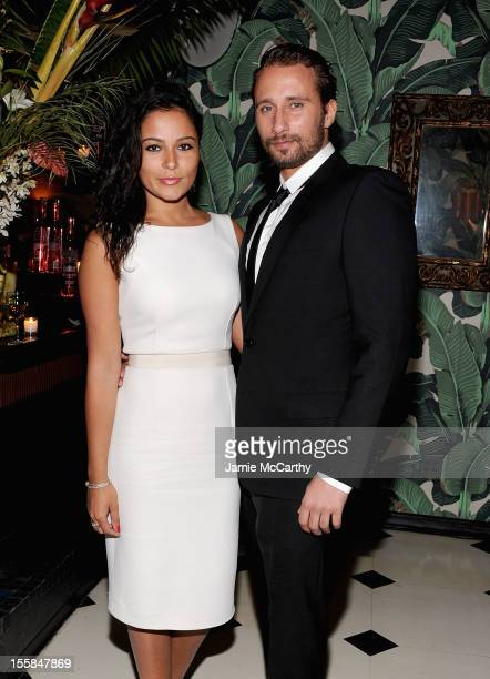 Alexandra Schouteden and Matthias Schoenaerts attend the after party for The Cinema Society with Dior Vanity Fair screening of 'Rust and Bone' at...