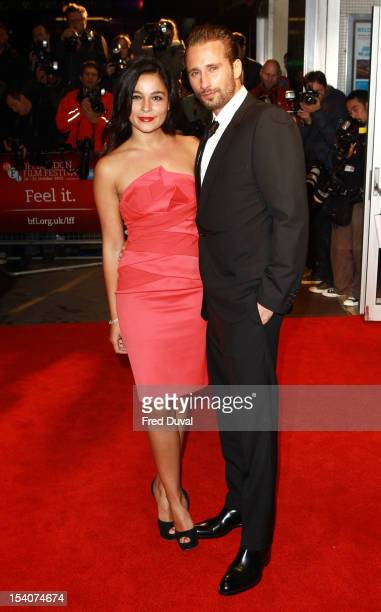 Alexandra Schouteden and Matthias Schoenaerts attend the Premiere of 'Rust and Bone' during the 56th BFI London Film Festival at Odeon West End on...