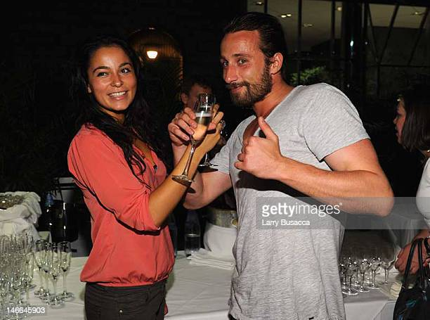 Alexandra Schouteden and Mattias Schoenaerts attend the after party for the Cinema Society with The Hollywood Reporter Piaget and Disaronno special...